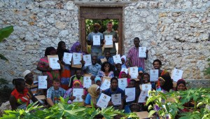 Recent graduates of the Practical Permaculture Institute of Zanzibar permaculture design course certificate.