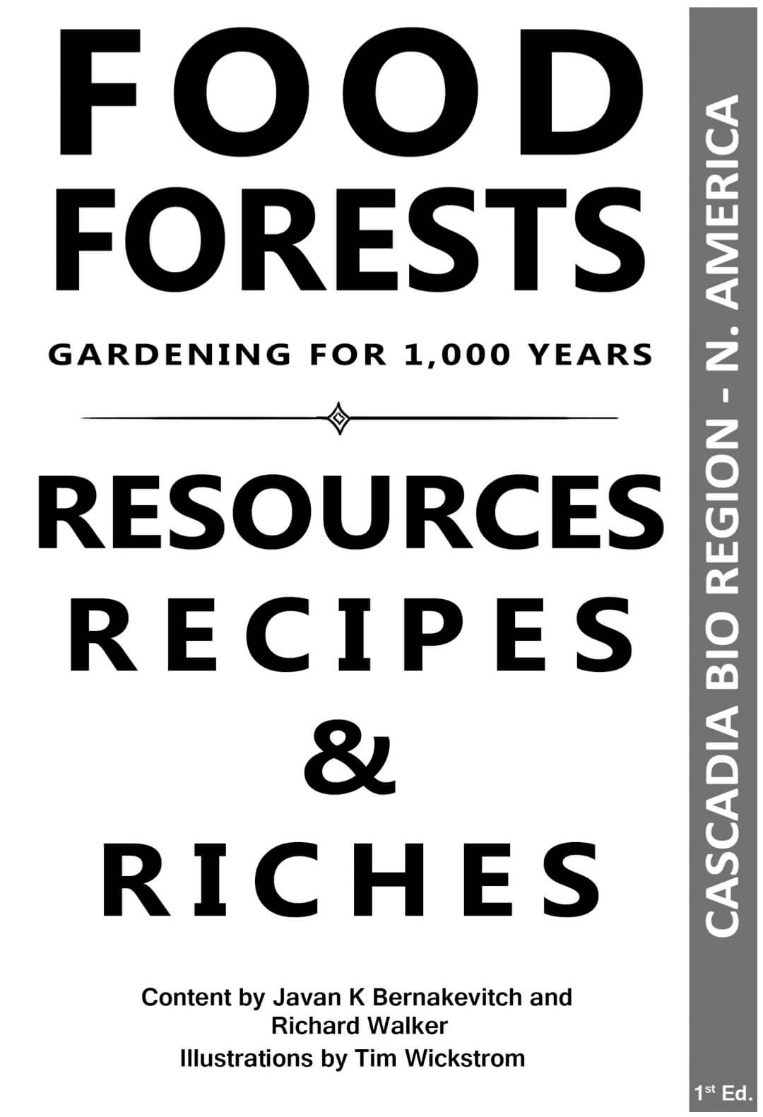 Cascadia Food Forests Booklet Single Page