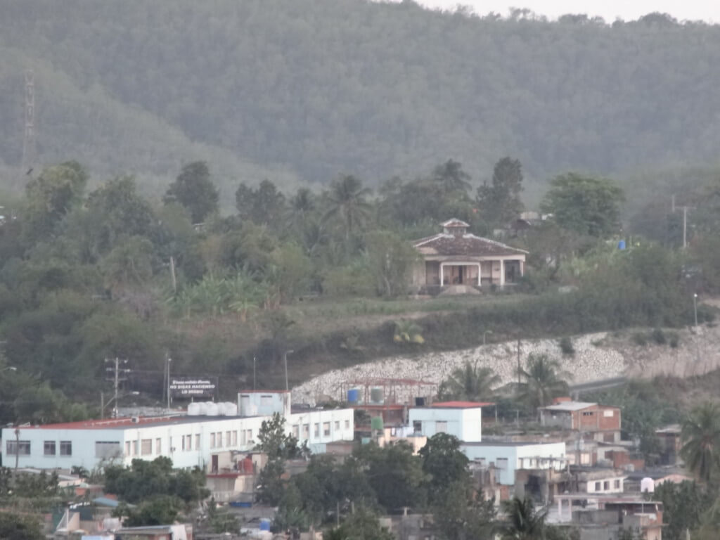 Looking at the site from across town