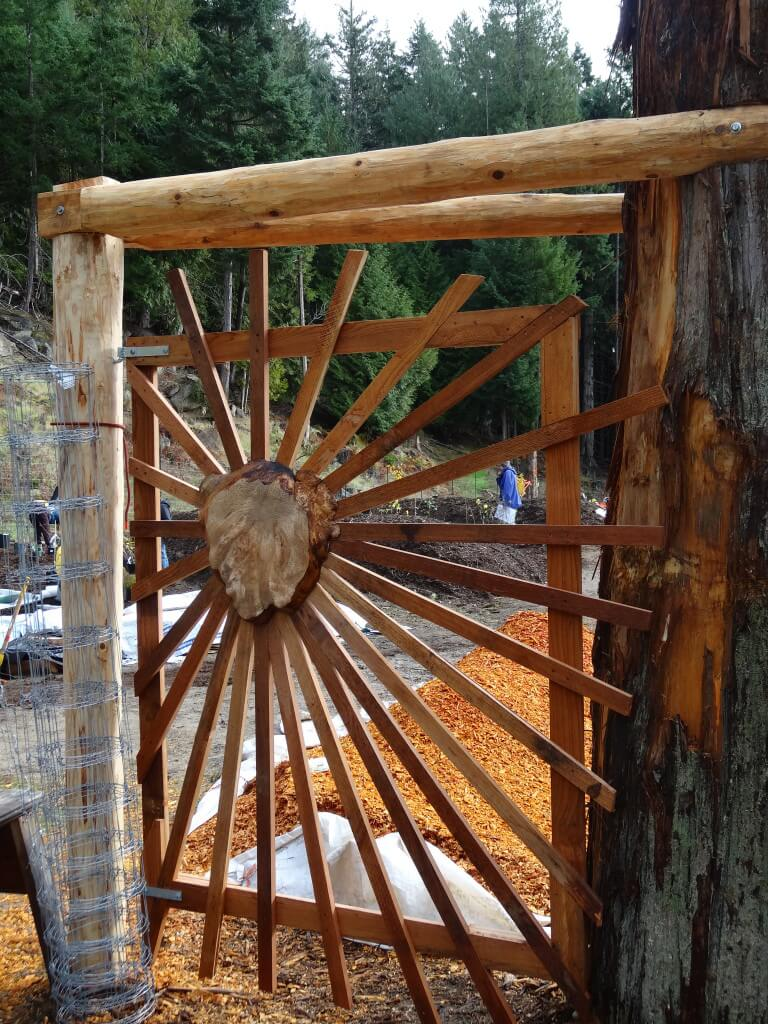 A beautiful gate from a local craftsman