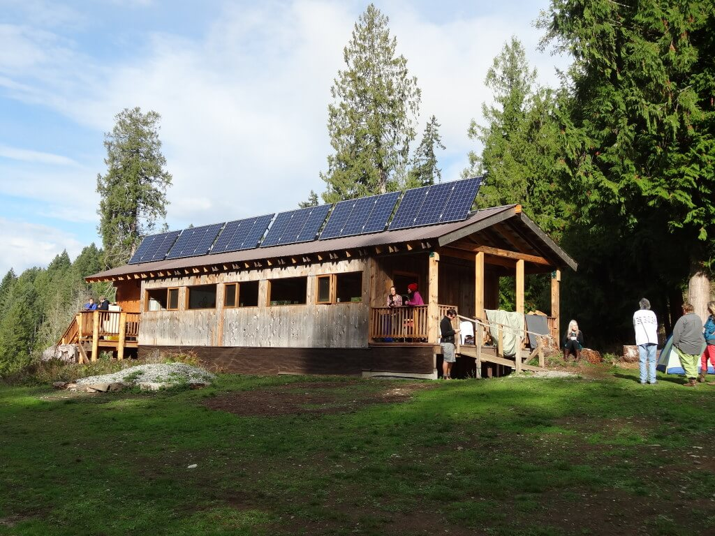 The workshop was hosted in a stunning off-grid classroom