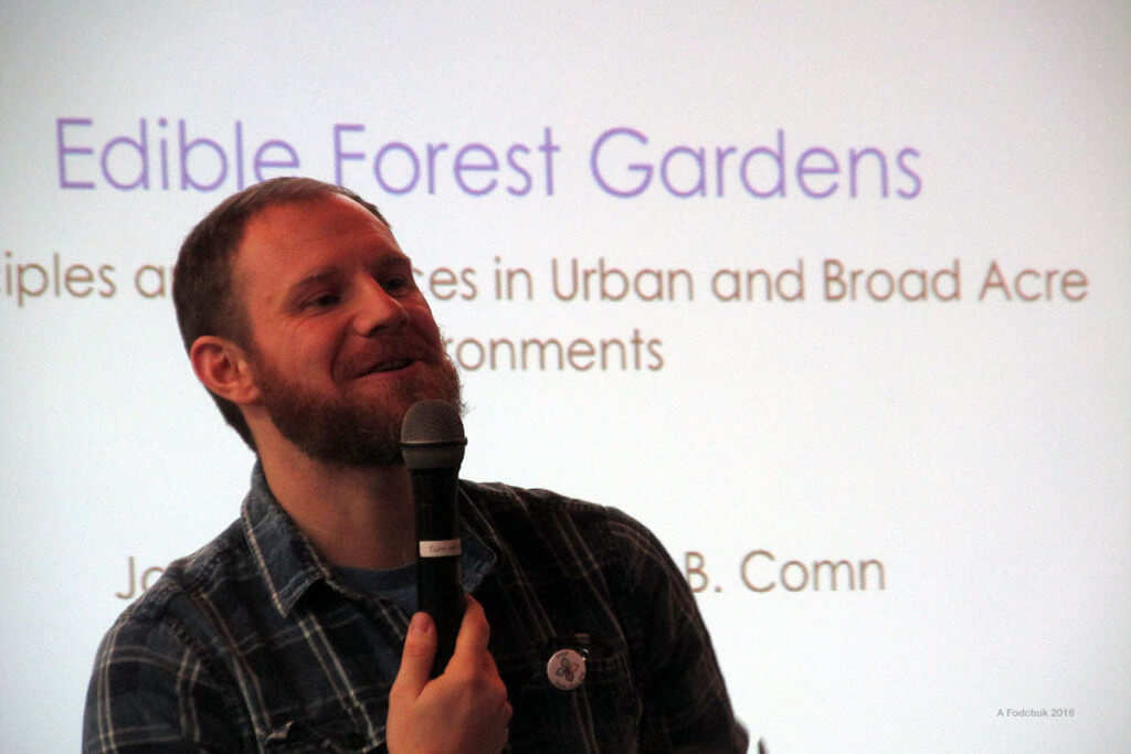 60 people out on a Saturday to talk food forestry... that's what that smile is for.
