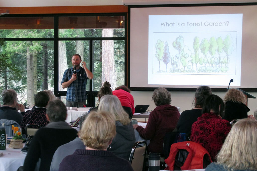 Explaining that a food forest, or forest garden isn't gardening in a forest.