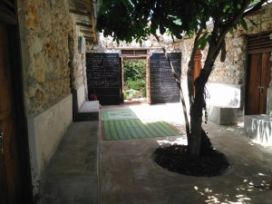 Inner courtyard of the Practical Permaculture Institute of Zanzibar after Michael, his students and locals complete the dormitories.
