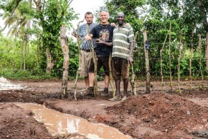 Left to Right - Franko Green (operations manager of PPIZ), Michael Nickels (Seven Ravens) and Josephat Barasa (Practical Permaculture Institute of Kenya)