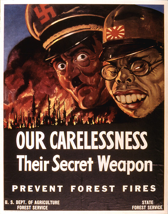 Wildfire associated with the Axis WW II