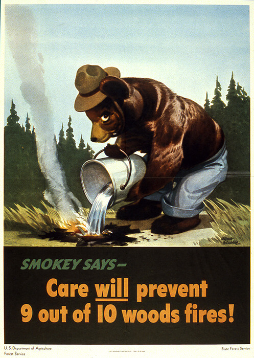 Smokey Bear first poster appearance